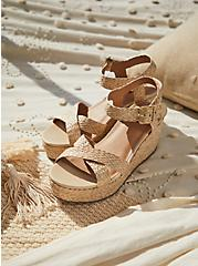 Tan Jute Ankle Strap Platform Wedge (WW), IVORY, hi-res
