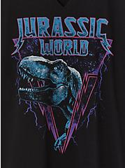 Jurassic World Split Neck Top - Black, , alternate