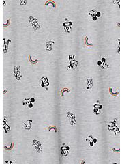 Disney Mickey Mouse & Friends Rainbow Grey Crew Tank, MICKEY AND FRIENDS, alternate