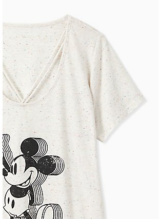 Disney Mickey Mouse Ivory Confetti Lattice Top, NATURAL IVORY, alternate