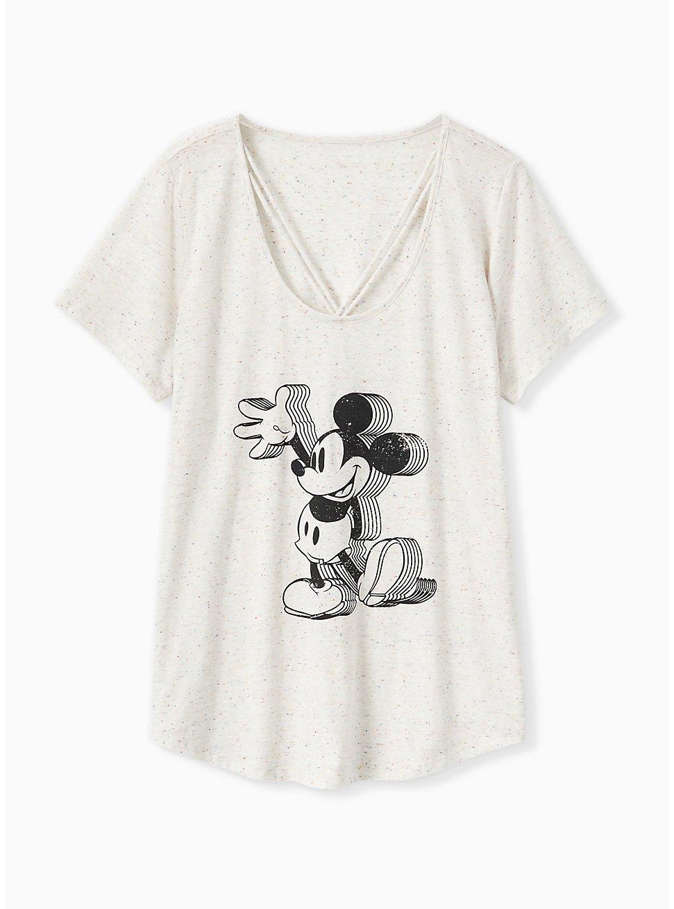 Disney Mickey Mouse Ivory Confetti Lattice Top, NATURAL IVORY, hi-res