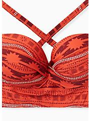Disney Moana Orange Geo Underwire Bikini Top, MULTI, alternate