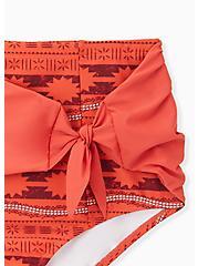 Disney Moana Orange Geo High Waist Tie-Front Swim Bottom, MULTI, alternate