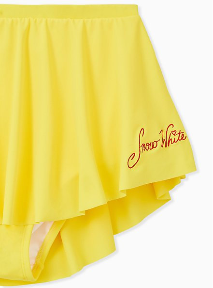 Disney Snow White and the Seven Dwarfs Yellow High Waist Swim Skirt, YELLOW  RED, alternate