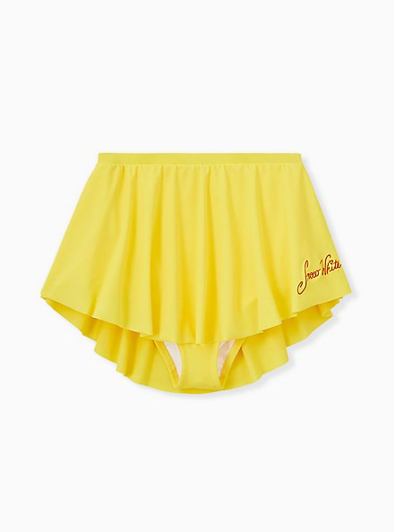 Disney Snow White and the Seven Dwarfs Yellow High Waist Swim Skirt, YELLOW  RED, hi-res