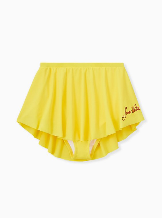 Disney Snow White and the Seven Dwarfs Yellow High Waist Swim Skirt, , hi-res