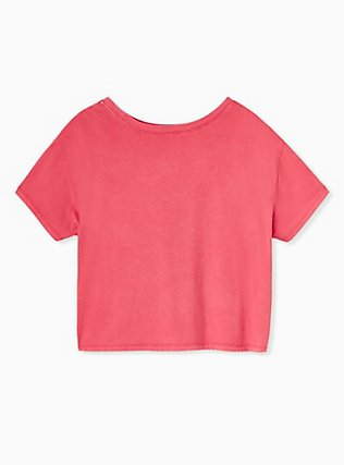 Los Angeles Heartbreakers Red Crop Crew Tee, JESTER RED, alternate