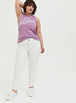 Selena Lavender Purple Crew Tank, , alternate