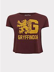 Harry Potter Gryffindor Burgundy Red Crop Tee, WINETASTING, hi-res