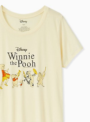 Disney Winnie The Pooh Light Yellow Crew Tee, , alternate