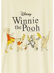 Disney Winnie The Pooh Light Yellow Crew Tee, , alternate