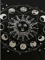 Black Moon & Sun Slub Jersey Cutout Off Shoulder Tee, DEEP BLACK, alternate