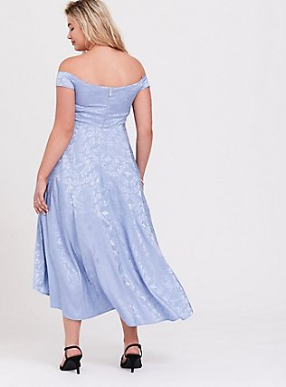 Disney Cinderella Blue Off Shoulder Satin Hi-Low Dress, EVENTIDE, alternate