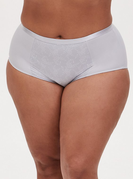 Light Grey Microfiber 360° Smoothing™ Brief Panty, , hi-res