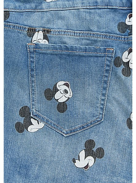 Disney Mickey Mouse Shortall - Medium Wash, CITY GAMES, alternate