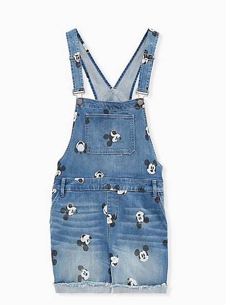 Disney Mickey Mouse Shortall - Medium Wash, CITY GAMES, hi-res