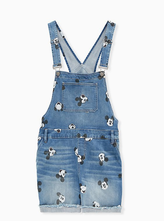 Disney Mickey Mouse Shortall - Medium Wash, , hi-res