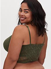 Light Olive Green Lace Lightly Padded Bralette, OLIVE, alternate