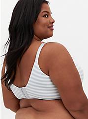 Plus Size Light Grey Stripe 360° Back Smoothing™ Lightly Lined Everyday Wire-Free Bra, GREY STRIPE, alternate
