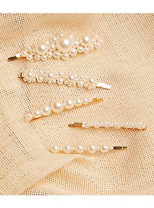 Faux Pearl Bobby Pin Pack - Pack of 5, , alternate