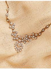 Vintage Gold-Tone & Faux Pearl Statement Necklace, , alternate