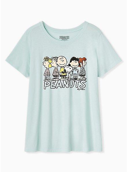 Peanuts Charlie Brown & Friends Mint Blue Tee, HARBOR GREY, hi-res