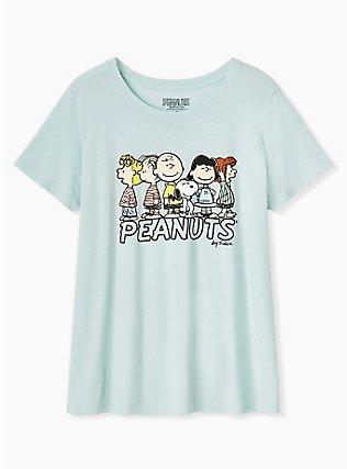 Peanuts Charlie Brown & Friends Mint Blue Tee, HARBOR GREY, flat
