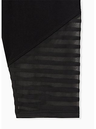 Disney Mickey Mouse & Friends Shadow Stripe Crop Legging, DEEP BLACK, alternate