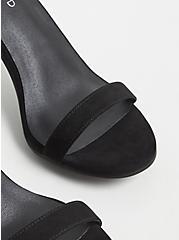Black Faux Suede Ankle Strap Stiletto Heel (WW), BLACK, alternate