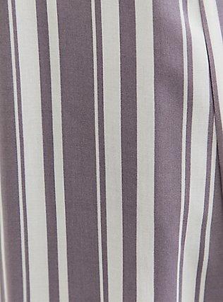 Plus Size Slate Grey & White Stripe Challis Duster Shirt Kimono, STRIPES, alternate