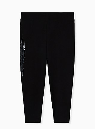 Jurassic World Black Crop Legging, DEEP BLACK, alternate