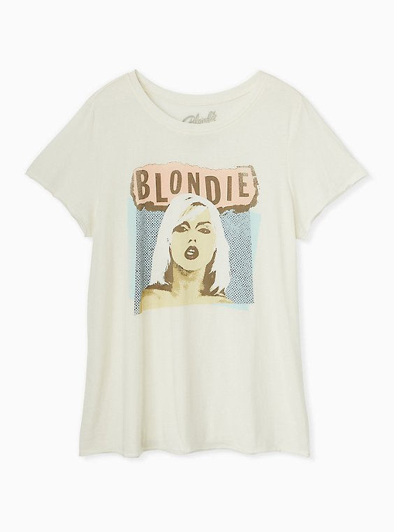 Blondie Ivory Crew Tee, , flat