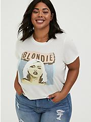 Plus Size Blondie Ivory Crew Tee, , hi-res
