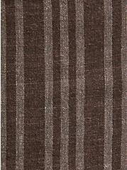 Drawstring Short Short - Linen Stripe Brown, STRIPES, alternate