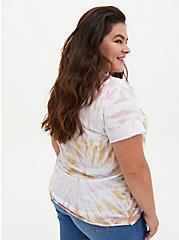 AC/DC Blush Pink & Mustard Yellow Tie-Dye Crew Tee, BLUSH, alternate