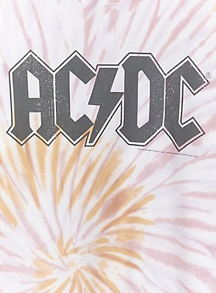 AC/DC Blush Pink & Mustard Yellow Tie-Dye Crew Tee, , alternate