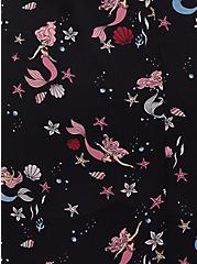 Disney The Little Mermaid Ariel Black Chiffon Hi-Lo Kimono, MULTI, alternate