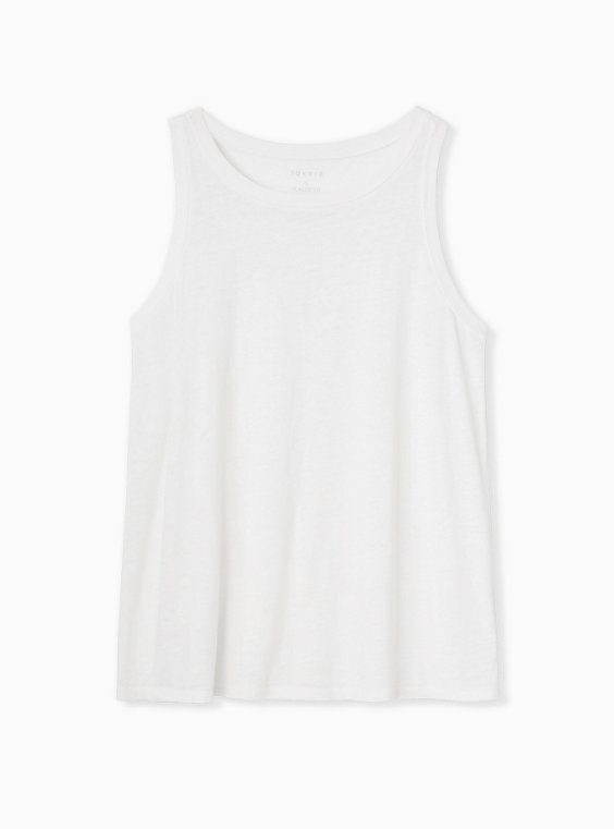 White Burnout Classic Fit Crew Tank, BRIGHT WHITE, hi-res