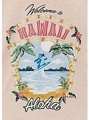 Disney Lilo & Stitch Hawaii Pale Pink Jersey Tie Front Top, ROSE DUST, alternate