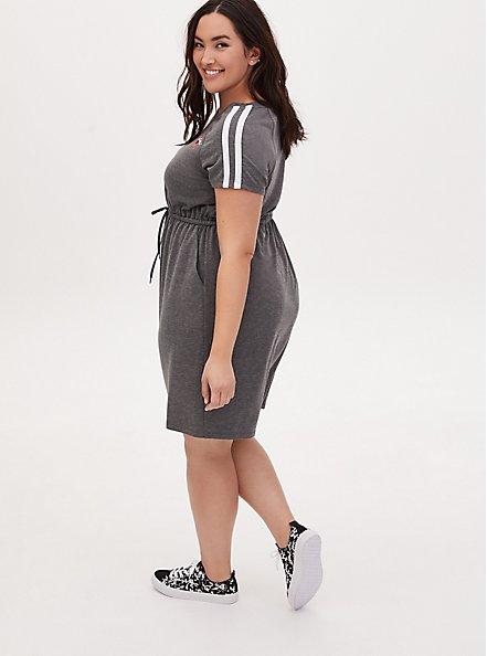 That's All Folks Heather Grey Terry T-Shirt Mini Dress, MEDIUM HEATHER GREY, alternate