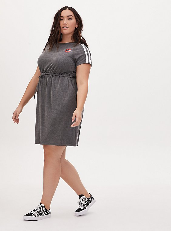 That's All Folks Heather Grey Terry T-Shirt Mini Dress, , hi-res