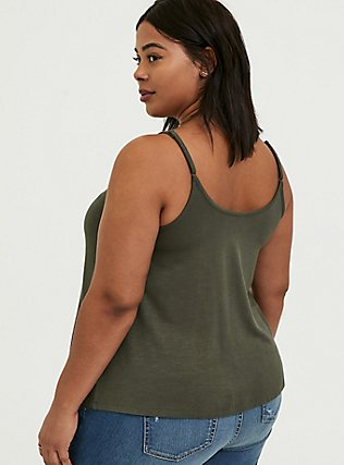 Olive Green Button Swing Cami, DEEP DEPTHS, alternate