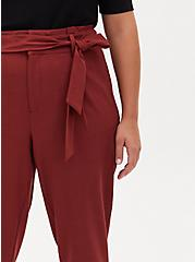 Brown Self Tie Tapered Pant, MADDER BROWN, alternate