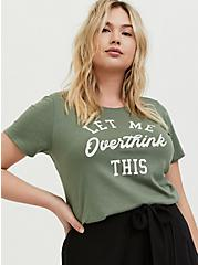 Overthink This Light Olive Green Crew Tee, AGAVE GREEN, hi-res