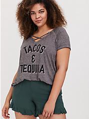 Tacos & Tequila Grey Burnout Crisscross Tee, MEDIUM HEATHER GREY, hi-res