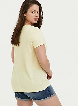 Palm Springs Classic Fit Crew Tee - Vintage Burnout Light Yellow, BUTTER YELLOW, alternate