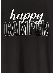 Happy Camper Black Slim Fit Crew Tee, DEEP BLACK, alternate
