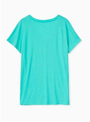 Sarcasm Always An Option Turquoise V-Neck Tee, AQUA GREEN, alternate