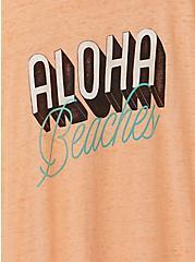 Aloha Beaches Peach Burnout Crew tee, , alternate