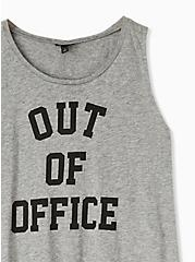 Plus Size Out Of Office Heather Grey Slub Jersey Crew Tank, MEDIUM HEATHER GREY, alternate